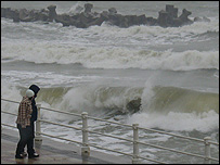 Rough sea at Constanta, Romania