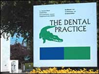 The Dental Practice sign, Cheltenham