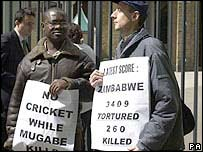 Protesters at Lord's (2003)