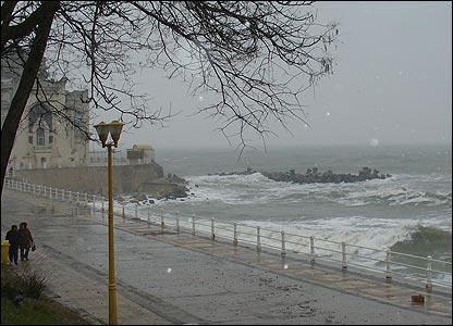 Rough sea at Constanta