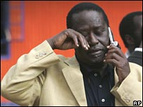 Raila Odinga pictured earlier this week