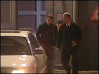 Joey Barton leaving court