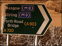 Snow on road sign [Pic: Eric Briton]