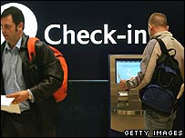 Check in at a UK airport