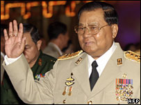 Burmese Senior General Than Shwe (March 2007)