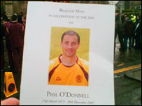 Phil O'Donnell order of service