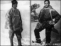 Robert Falcon Scott and Ernest Shackleton