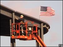 Obrero de la construcci�n en EE.UU.