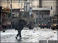 القوات الاسرائيلية في نابلس