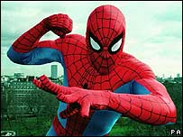 A man in a Spiderman costume (archive image)