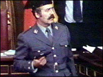 Lieutenant Colonel Antonio Tejero Molina, who attempted a coup in 1981 