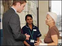 Prince William meets patient Fathieh Shihab