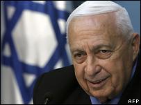 Ariel Sharon when Israeli Prime Minister - 21/11/2005