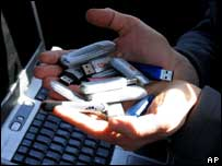 USB memory sticks on sale in Afghanistan