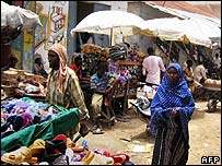 The Bakara market, Mogadishu, photographed 19 September 2007