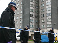 Officers at the scene in Erith
