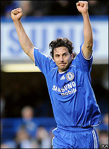 Pizarro celebrates the opening goal