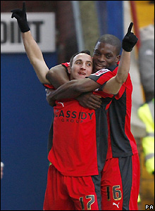 Mifsud celebrates his goal