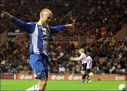 Cotterill celebrates his goal
