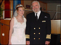 Captain Ron Warwick and his daughter Rebecca