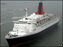 The QE2 at Southampton