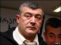 Georgia's main opposition leader Levan Gachechiladze on 6 January 2008