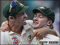 Michael Hussey and Michael Clarke