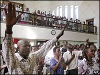 Kenyans pray for peace