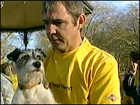 Neil Morrissey with his dog Tiggy