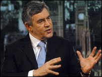 Prime Minister Gordon Brown MP ...Jeff Overs/BBC