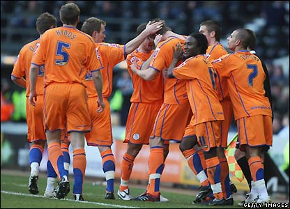 Sheffield Wednesday celebrate their opening goal