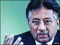 Musharraf on television