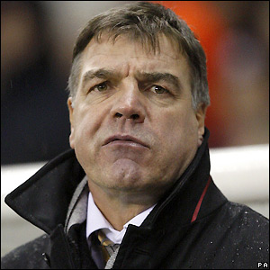 Newcastle manager Sam Allardyce