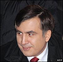 Georgia's incumbent President Mikhail Saakashvili