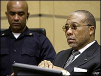 Charles Taylor, ex presidente de Liberia, en La Haya