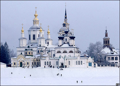 Churches in Veliky Ustyug, northern Russia
