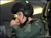 Prince William at the start of RAF training