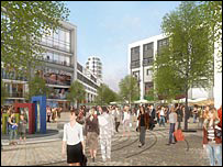 Artist's impression of Quadrant Square