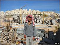 Palestinian farmer near Har Homa settlement