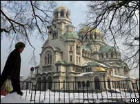 The Alexander Nevski cathedral in the Bulgarian capital Sofia