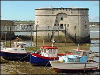 The Martello Tower in Pembroke Dock