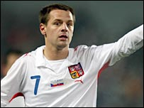 Marek Matejovsky pictured playing for the Czech Republic