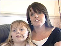 Nicola Grayson with daughter Chloe
