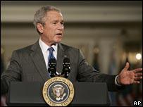 President Bush delivers speech in Chicago