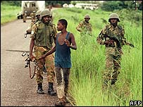 UN troops in Liberia