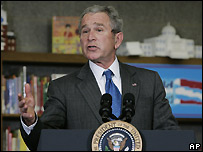 US President George W Bush - 7 Jan 2008