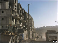 Israeli construction in Har Homa, Dec 2007