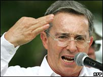 Colombian President Alvaro Uribe