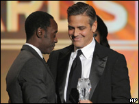Don Cheadle and George Clooney