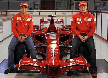 Felipe Massa and Kimi Raikkonen will again drive for Ferrari